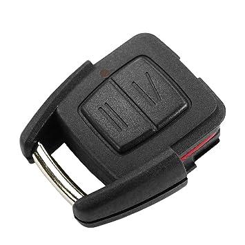 Carcasa Llave Carcasa Mando Negro 2 Botones Opel Corsa Astra ...