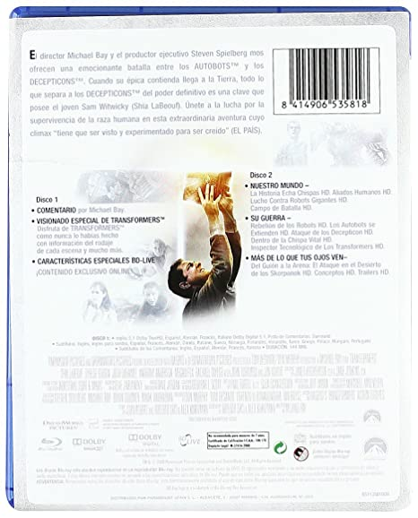 Amazon.com: Transformers: La Película (Blu-Ray) (Import ...