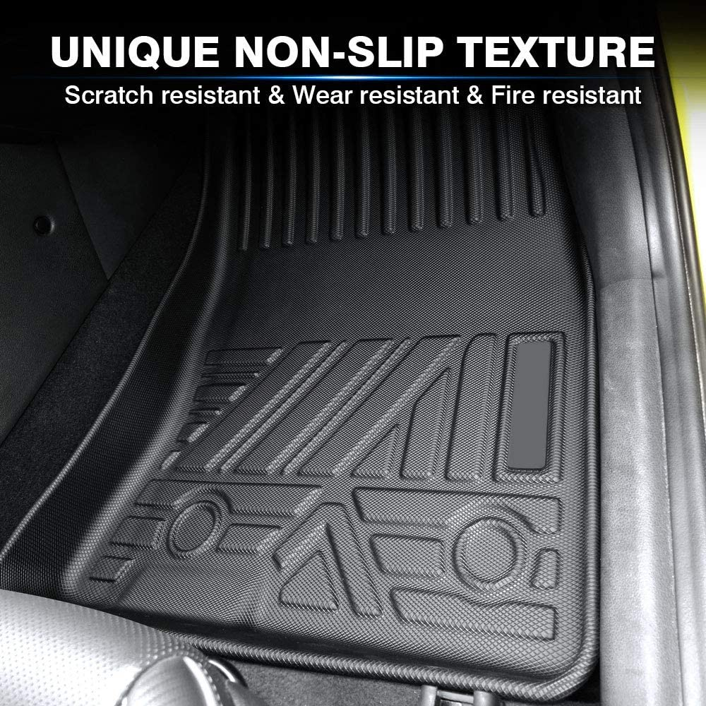 KUST 2020 Upgrade Non-Slips Floor Mats for 2018-2021 Hyundai Kona Odorless Floor Liner for 2020 Kona 1st /& 2nd Row All Weather No Electric Models