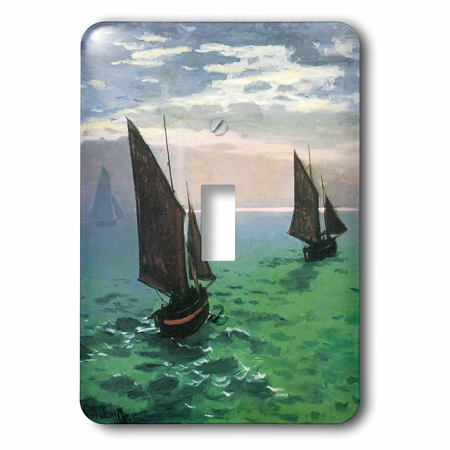 Single Toggle Switch 3dRose lsp/_126552/_1 Fishing Boats At Sea By Claude Monet 1868
