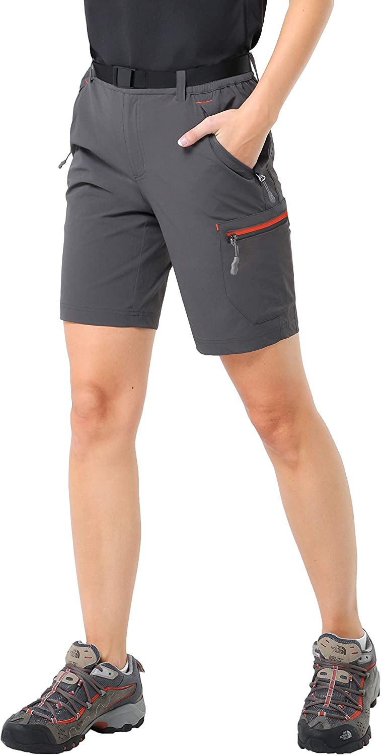 MIER Womens Lightweight Cargo Shorts Outdoor Breathable Stretchy Hiking Shorts Water Resistant and Quick Dry