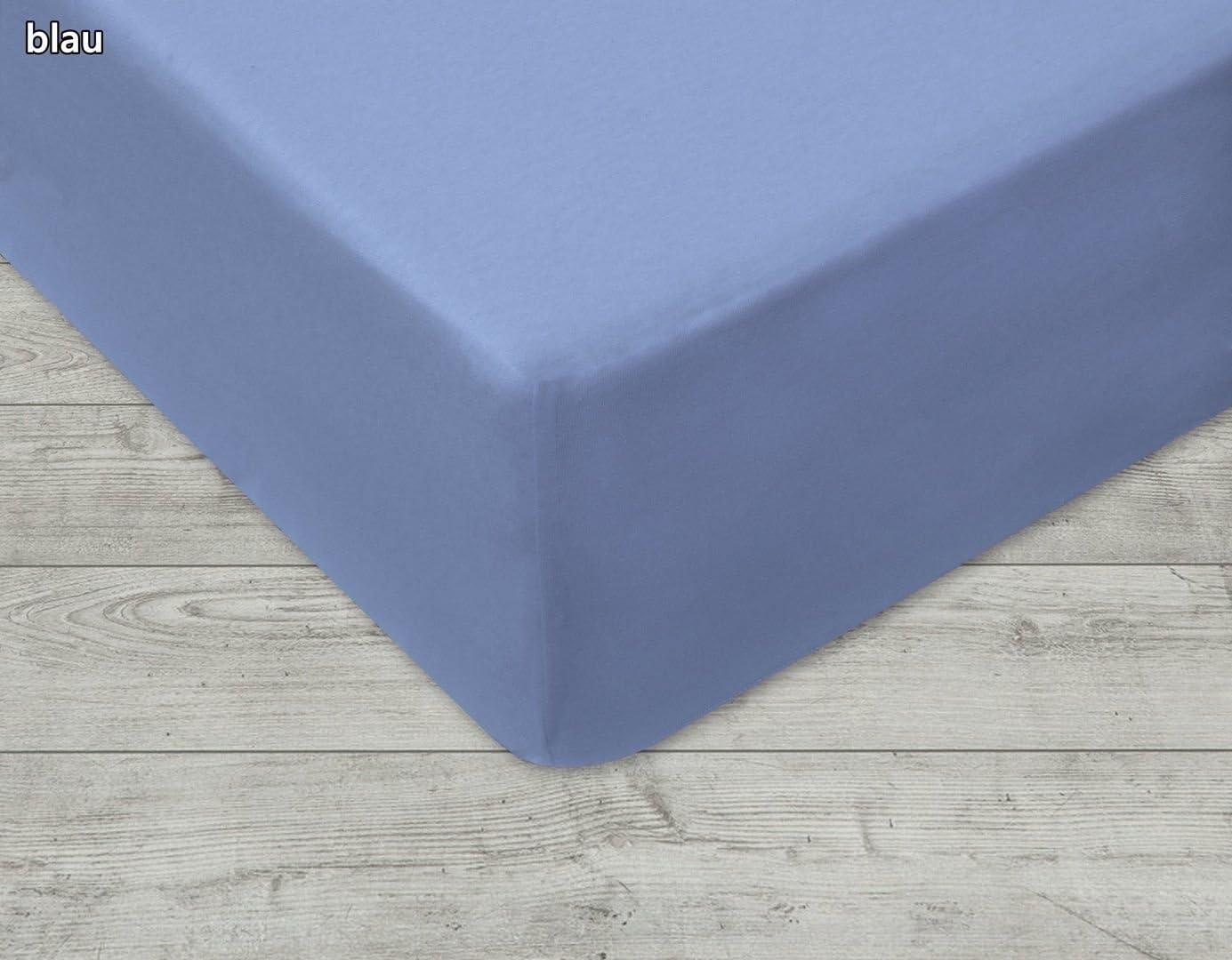 Coprimaterasso in spugna lenzuolo blu blau 130-140x200