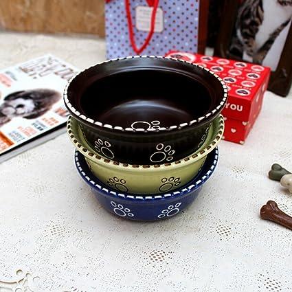 xueyan& Teddy Dog Poodle Bo Mei recipiente especial pequeño perro de cerámica vajilla plato para mascotas
