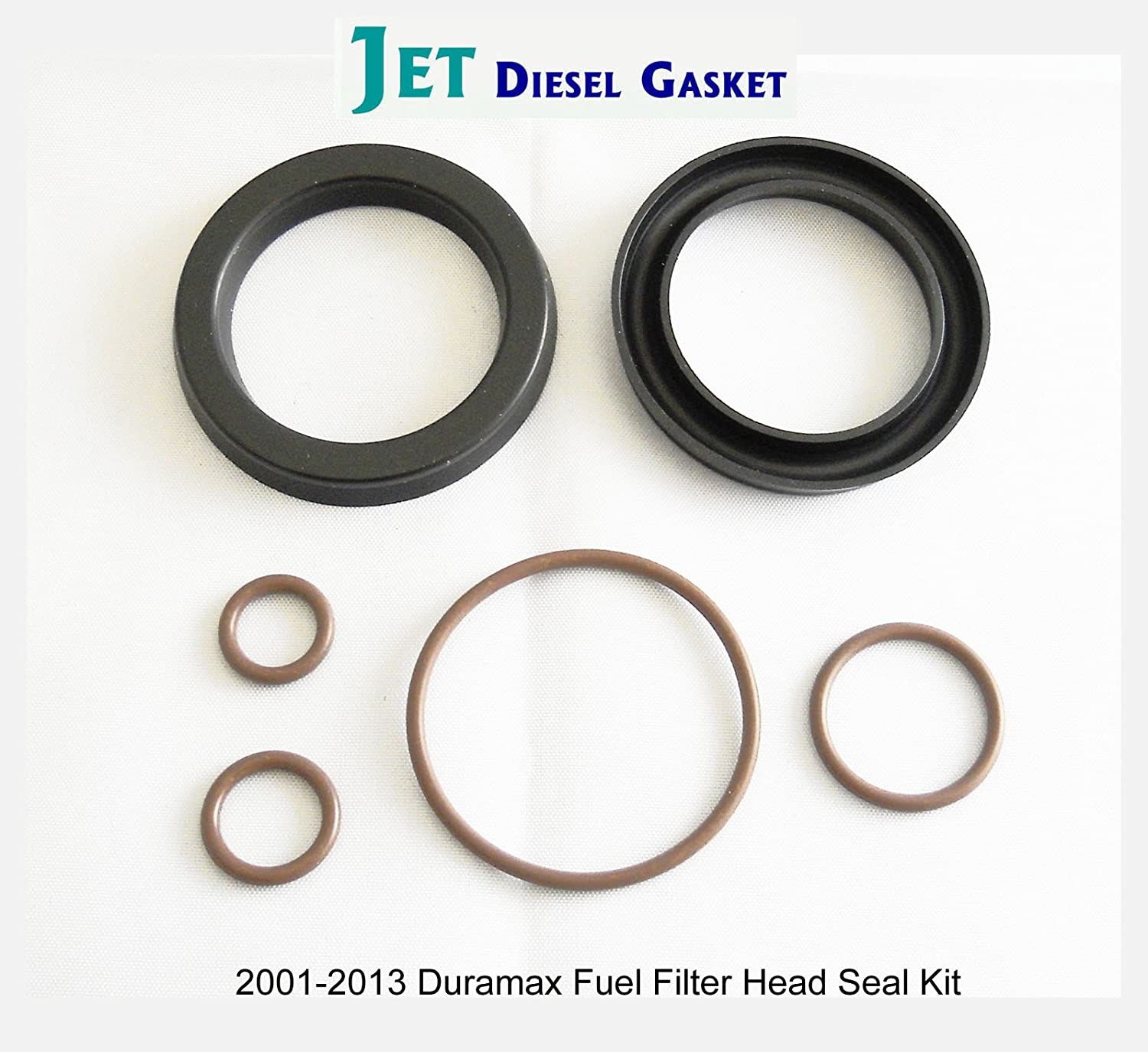 Deluxe Fuel Filter Head Rebuild Seal Kit With Viton O Duramax Location Rings For Automotive