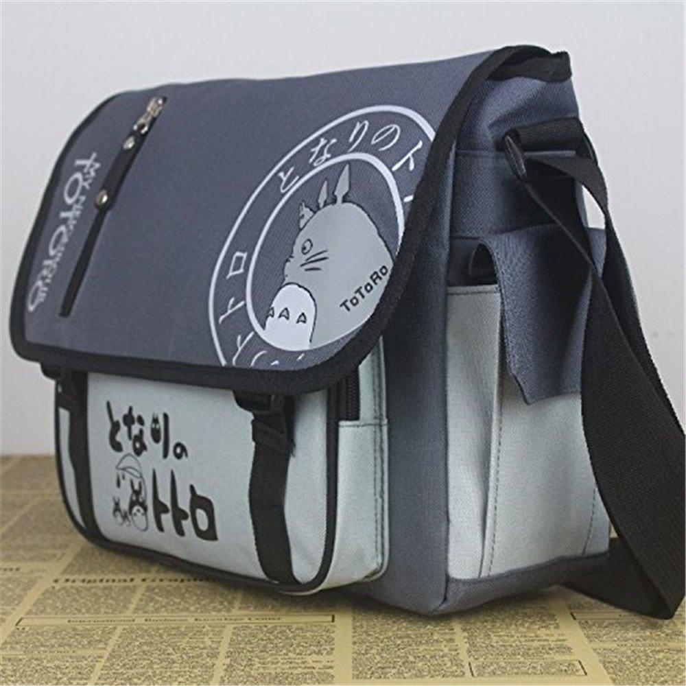 Amazon.com  Anime My Neighbor Totoro Canvas Messenger Bag  Sports   Outdoors a914f996b6