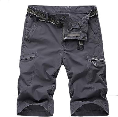 LHHMZ Pantalones Cortos Deportivos Ligeros de Secado rápido para Hombres Pantalones Cortos Extensibles Transpirables Pantalones Casuales de Moda.