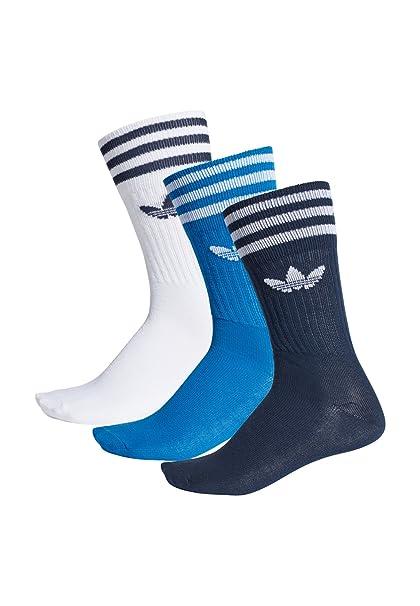 adidas Originals Socken Dreierpack SOLID CREW SOCK DW6827 Blau Weiß Mehrfarbig