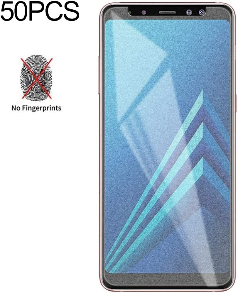 No Retail Package Glass Film 2018 Screen Protector Protective 50 PCS Non-Full Matte Frosted Tempered Glass Film for Galaxy A8+