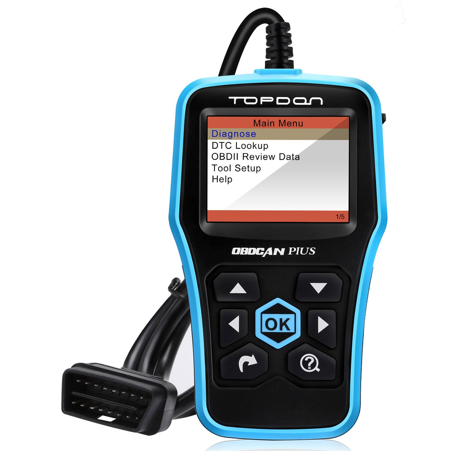 Amazon.com: Code Reader TOPDON PLUS Diagnostic Scan Tool Full OBDII  Functions in Graphical Display DTC Lookup Turn off MIL plus Prints Data +  Free Upgrade: ...