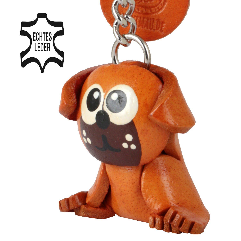 Monkimau Carlino Pug Molly - Perros Llavero Figura de Piel ...