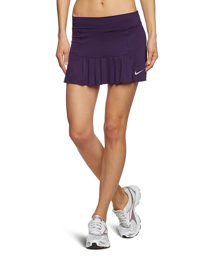Nike Falda de pádel para mujer, tamaño S, color grand morado/ultramorado/silver: Amazon.es: Ropa y accesorios