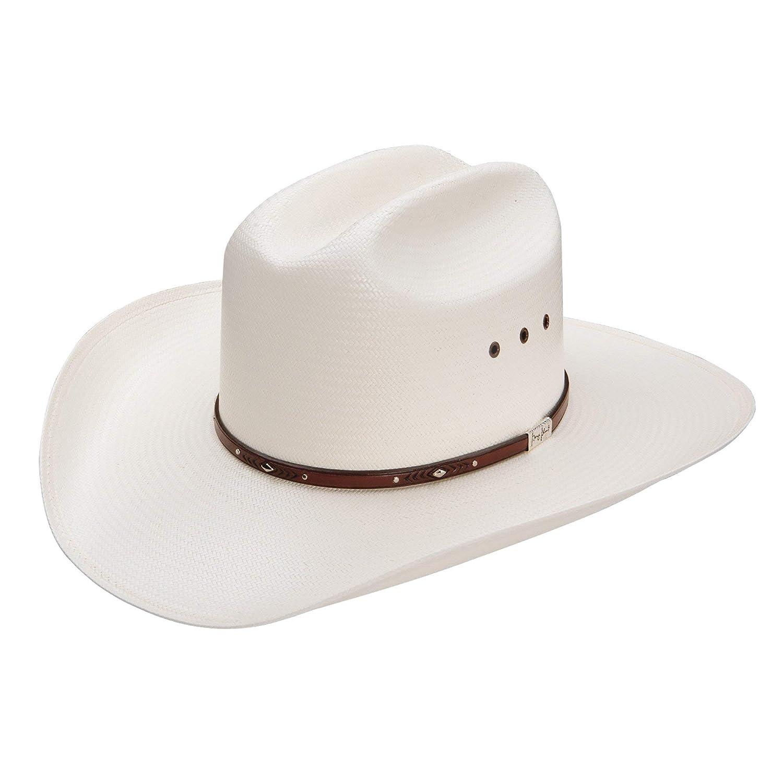 f72b124fd Resistol Men's George Strait Palo Duro 8X Straw Cowboy Hat Natural 7 5/8