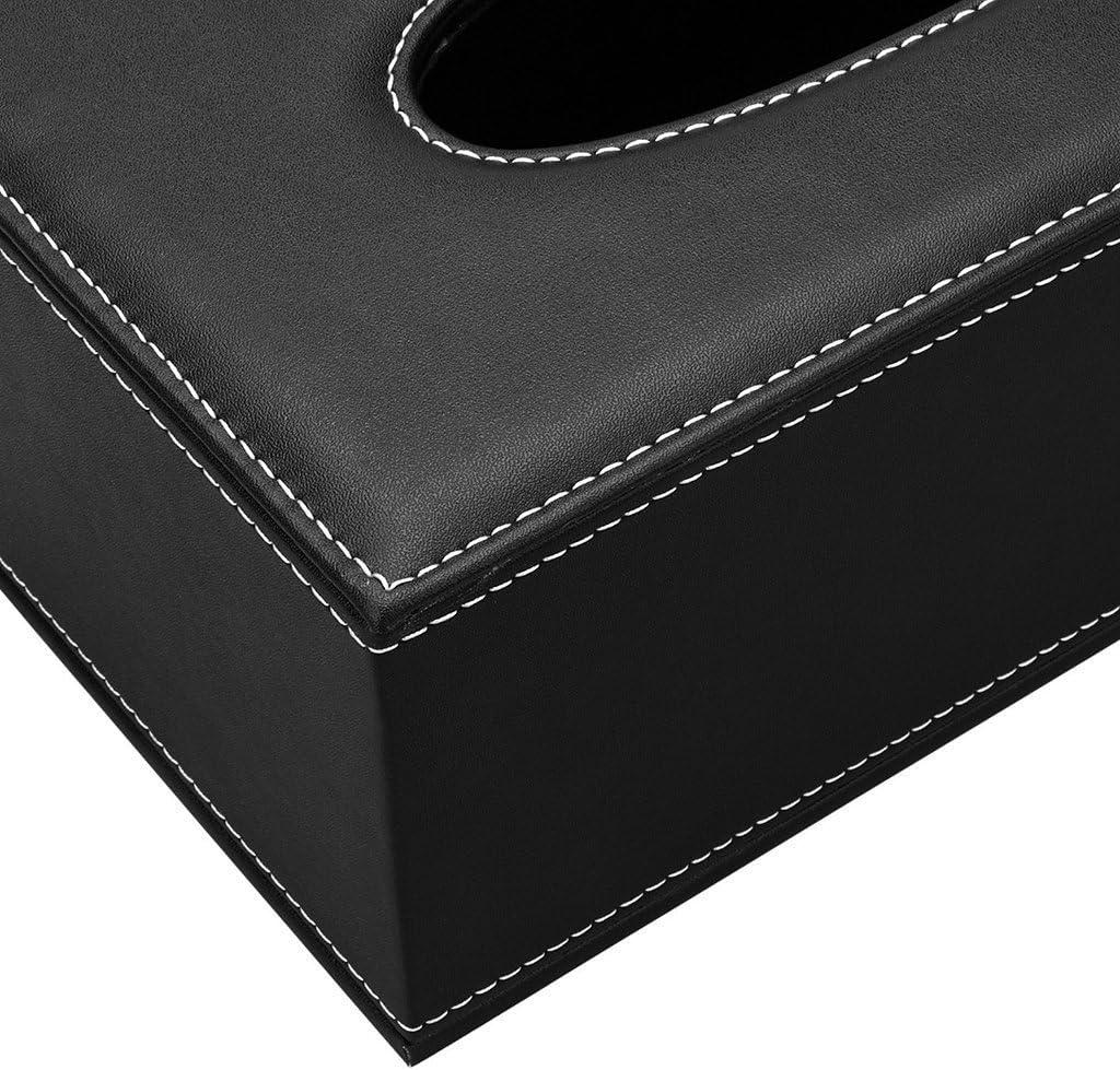 B/üro f/ür Servietten Auto,Badezimmer Dekoration Organizer f/ür Zuhause BLIENCE Rechteckig Taschentuchbox,Kosmetikt/ücherBox,Taschent/ücher Box,Aus Leder