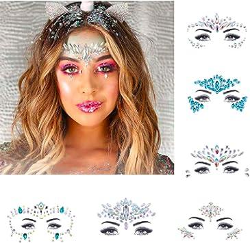 Piedras brillantes para la cara, disfraz de festival, carnaval ...