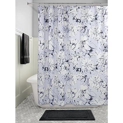 InterDesign Chalk Floral Fabric Shower Curtain 72quot X