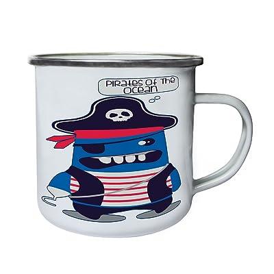 Pirates de l'océan Captain Hook Monster en bleu Rétro, étain, émail tasse 10oz/280ml aa885e