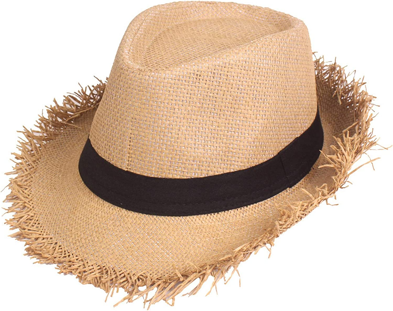 Sun Hat Summer Solid Color Fashion Summer Travel Topee Round Holiday Sun Hat Beach Cowboy Hat