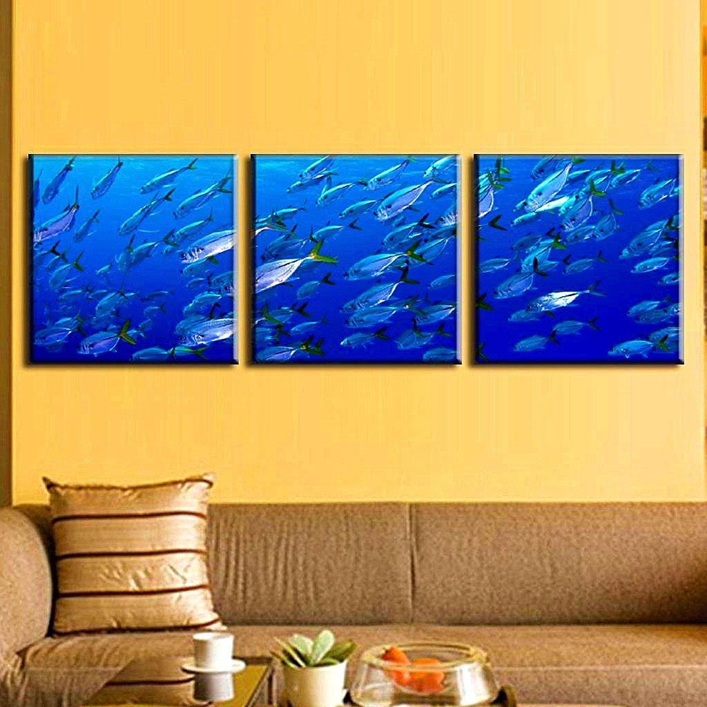 Amazon.com: BERDECIA Caribbean Sea Tropical Shoal of fish Canvas ...