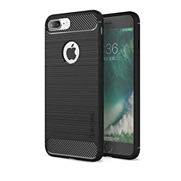 Lincivius Funda iPhone 8 Plus, Fundas iPhone 8 Plus 5.5 Carcasa Silicona [TPU Brushed] Anti Golpes Hibrida Estuche Resistente Accesorios