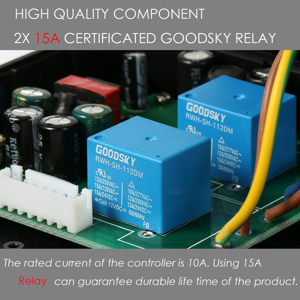 bayite Temperature Controller BTC201 Pre-Wired Digital Outlet ...