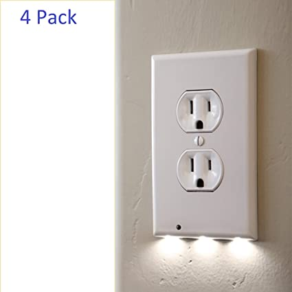 3 Pack Snappower Guidelight Outlet Wall Plate With Led Night