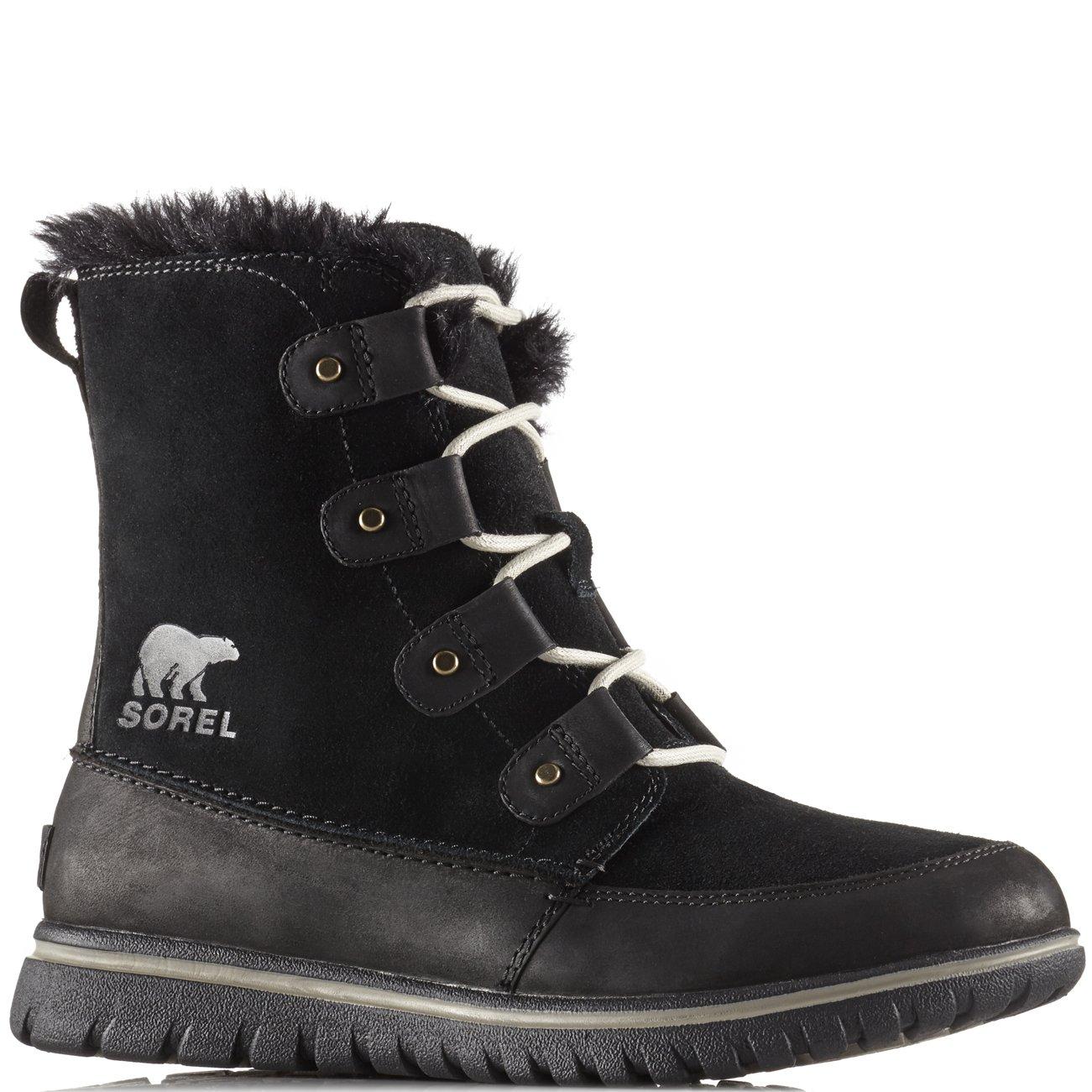 Sorel Womens Cozy Joan Black Leather Boots 10 US
