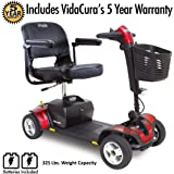 Pride Go-Go Sport 4-Wheel Electric Travel Scooter Heavy Duty Incl 5 Year Protection Plan