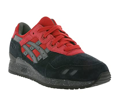 promo code 7ac8b 8d257 Asics Gel-Lyte III, black-red: Amazon.co.uk: Shoes & Bags