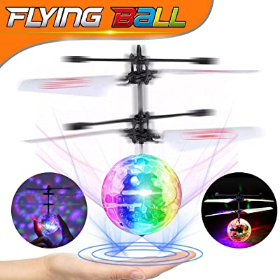 Flying Ball RC Toys for Kids, Hand Controlled Mini Drones Light-Up Flying Toy Helicopter with Rechargeable Remote Controller Quadcopter Novelty Toys Holiday Birthday Childrens Day Gifts for Kids Boys: Toys & Games