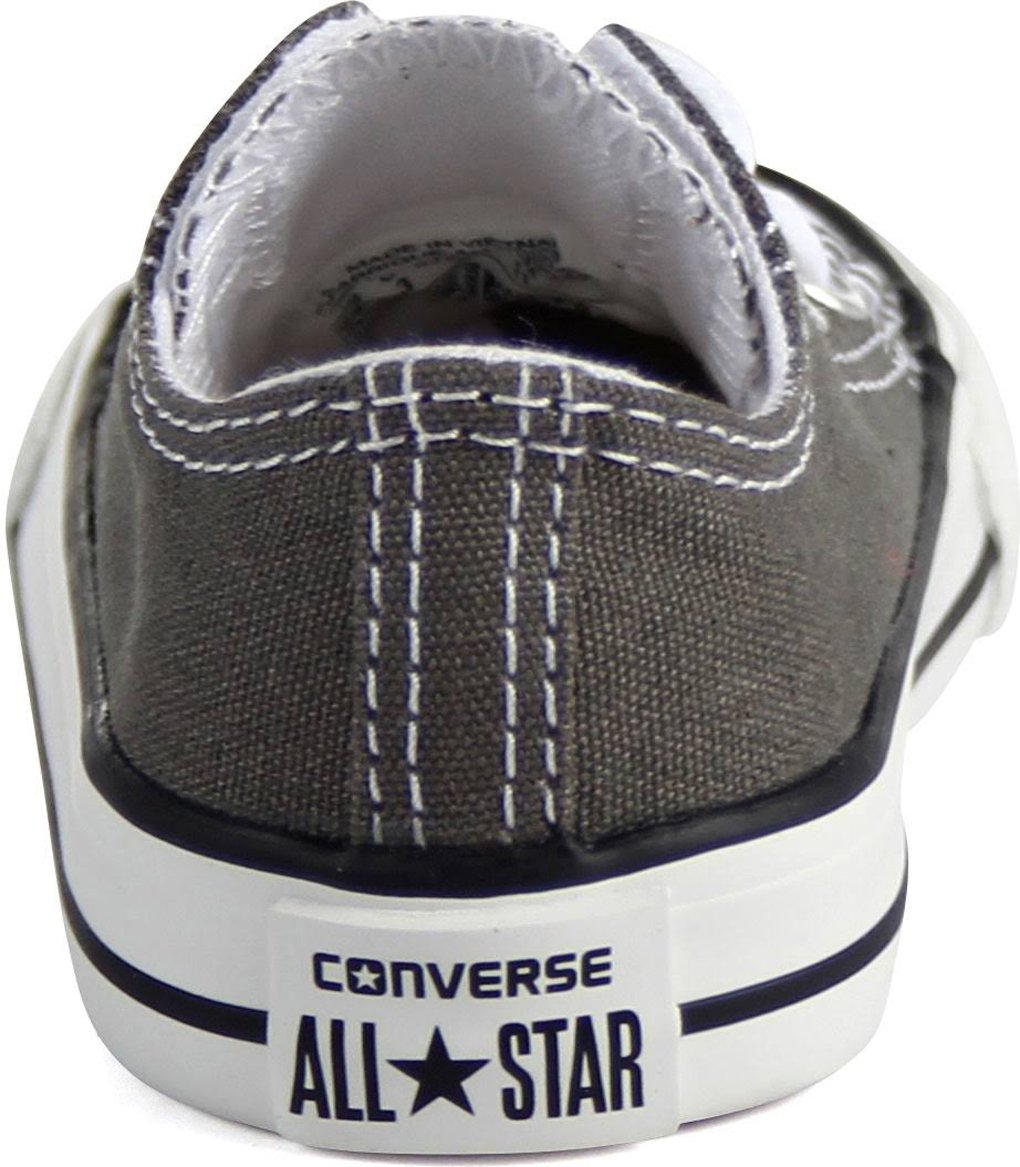 Converse 7J794 Kids Infant Chuck Taylor All Star Low Charcoal (5 Toddler/Infant)