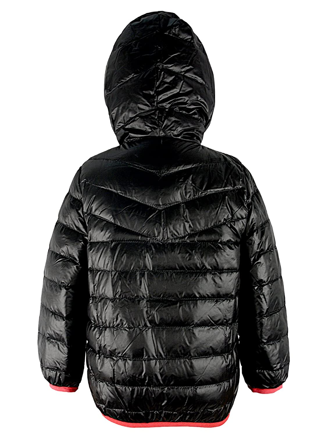 62bf21ba2 American Trends Kids Warm Down Jackets Breathable Winter Outerwear  Ultralight Packable Hooded Puffer Parka Zipper Coat