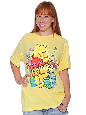 89fff8e4 Disney Winnie The Pooh Sweeter Than Honey Yellow T-Shirt Plus Size (2X):  Amazon.co.uk: Clothing