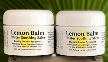Lemon Balm Cold Sore & Shingles Salve! 1 Oz, Quickly Soothe Blisters,  Rashes, Herpes,