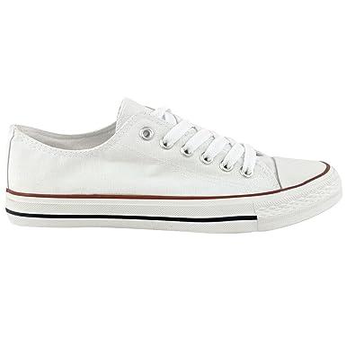Zapatillas playeras con lazo, de lona, planas para mujer, color Blanco, talla 39: Amazon.es: Zapatos y complementos