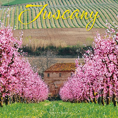 Graphique Tuscany Wall Calendar, 16-Month 2019 Wall Calendar with Beautiful Italian Landmark Photographs, 3 Languages & Major Holidays, 2019 Calendar, 12