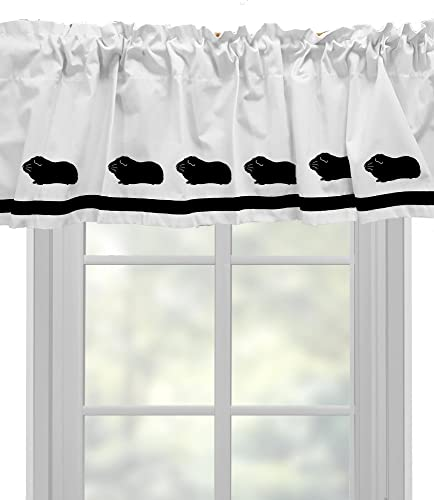 Guinea Pig Window Valance Window Treatment – In Your Choice of Colors – Custom Made