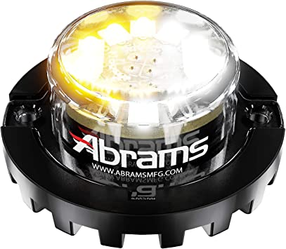 6 LED Snow Plow Truck Vehicle LED Hideaway Surface Mount Strobe Warning Light Abrams SAE Class-1 Impact 6 18W Amber//White