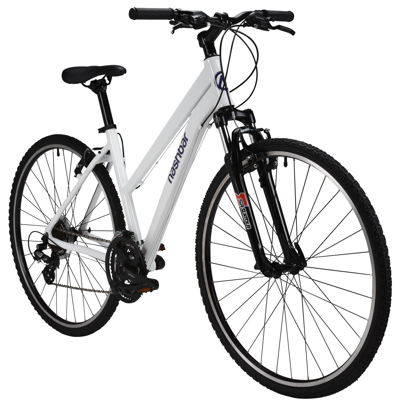 Nashbarレディースデュアルスポーツハイブリッド自転車 B0743M89HX18 INCH