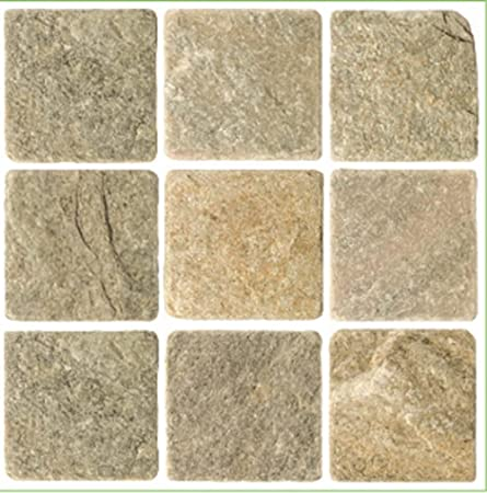 Pack 10 Cream Grey Travertine Stone Effect Mosaic Tile Transfers