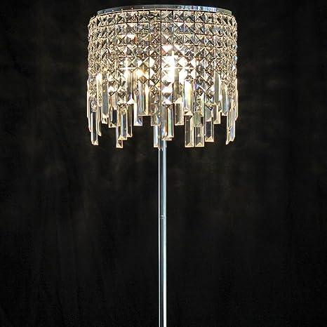 MILUCE Lámparas de pie de Hierro Forjado K9 Crystal 33 ...