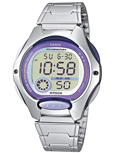 4c43315bfded Casio Reloj Digital para Mujer de Cuarzo con Correa en Acero Inoxidable  LW-200D-6AVEF  Casio  Amazon.es  Relojes