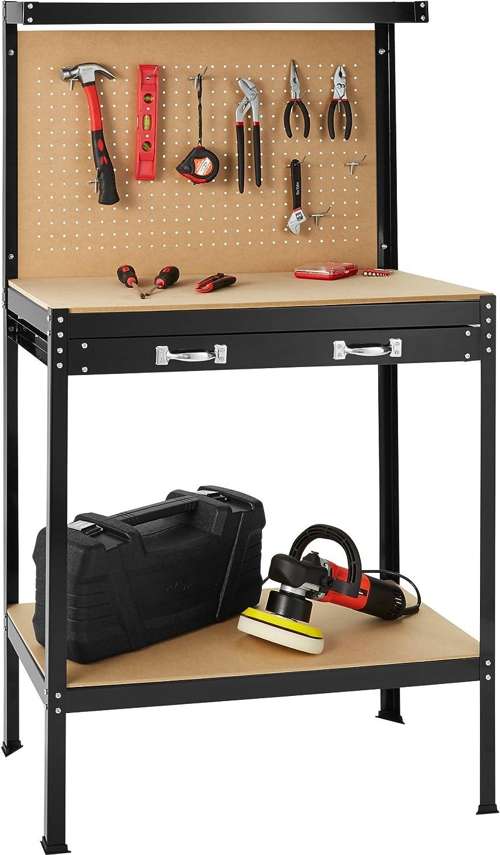 TecTake Banco de trabajoMesa de trabajo para taller bricolaje ...