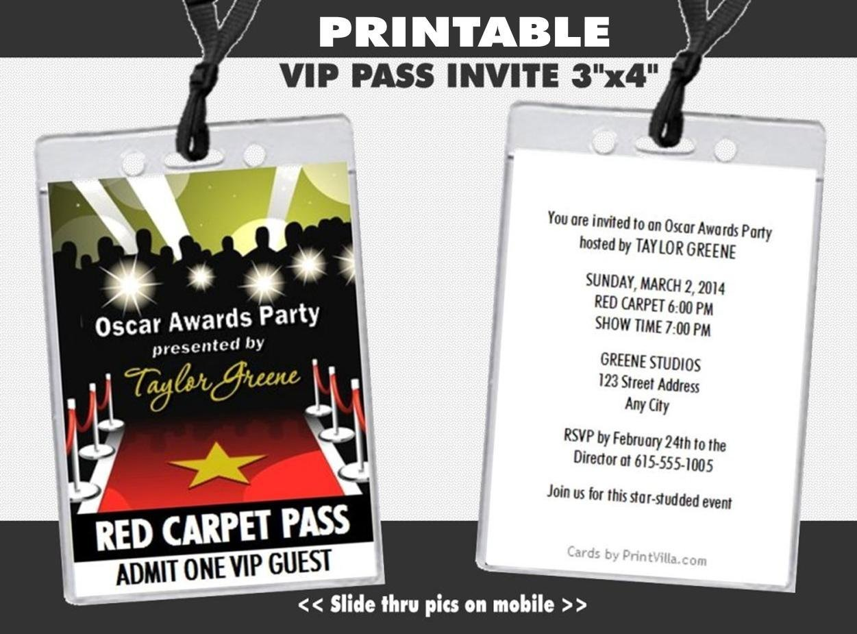 Amazon.com: Oscar Awards Red Carpet Paparazzi Party VIP Pass ...