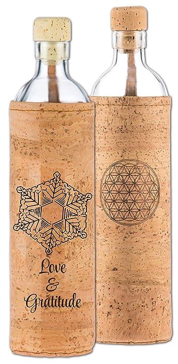Flaska Botella de Agua Reutilizable de Vidrio - Spiritual: Amazon.es: Deportes y aire libre