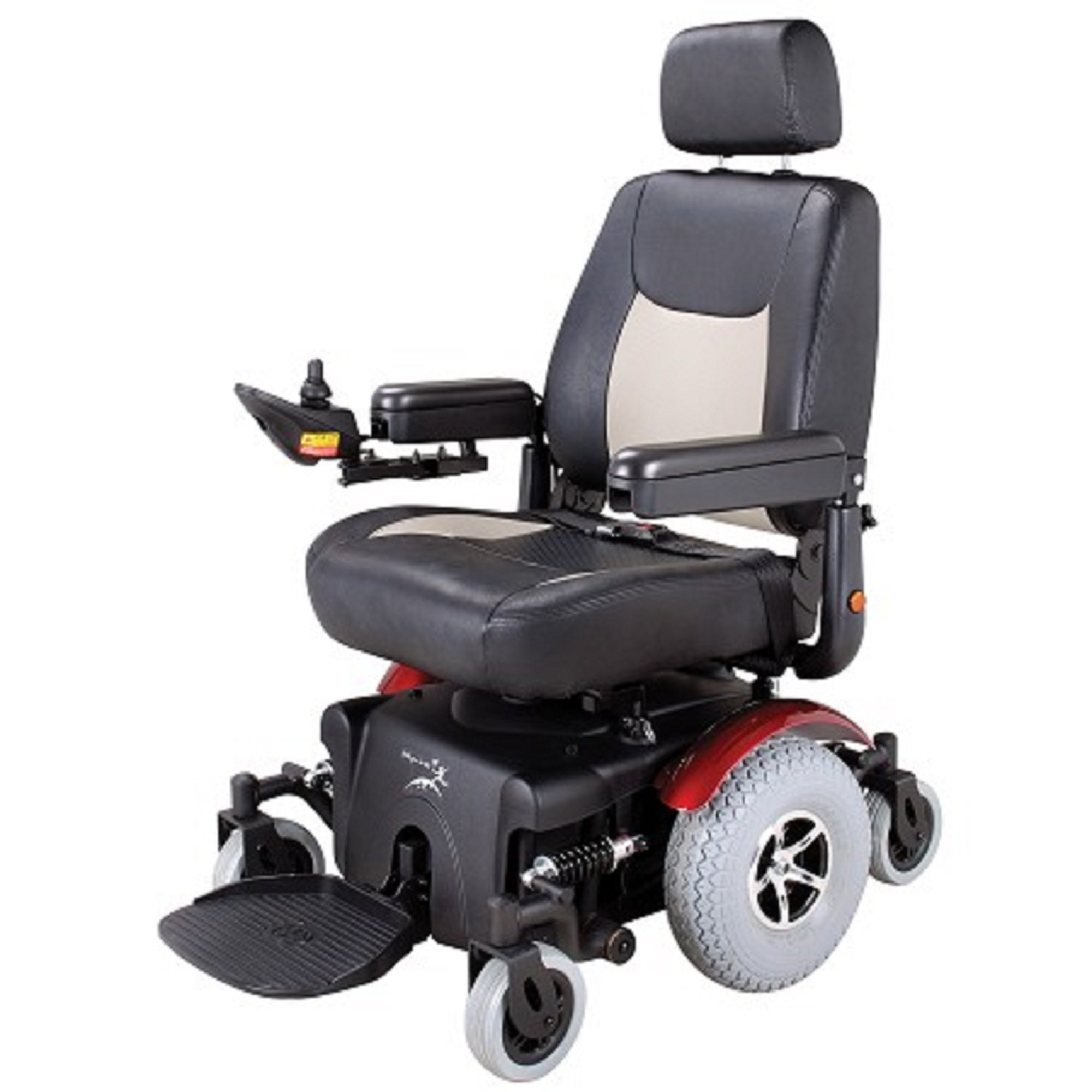 Merits Health Products - Vision Super - Midwheel Drive Power Chair - 22''W x 20''D - Red