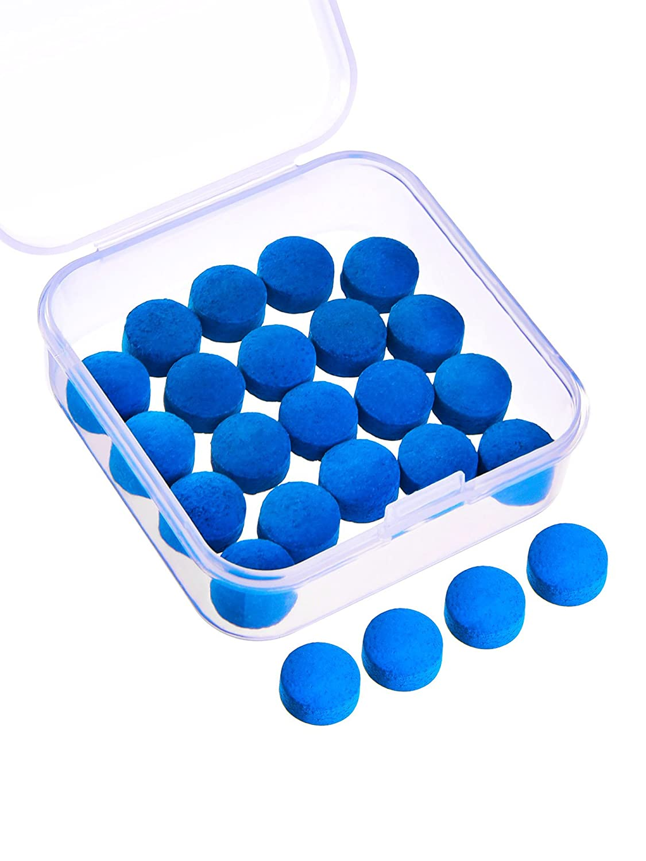 20 Piezas de Puntas de Taco de Billar 10 mm Punteras de Reemplazo con Caja de Almacenaje para Tacos de Billar y Snooker, Azul Gejoy