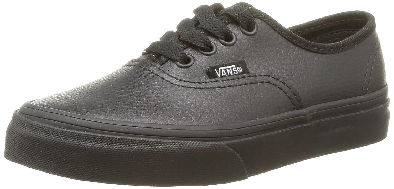 Vans K Authentic Leather - Zapatillas de Estar por casa Unisex niños Leather/Black/Black