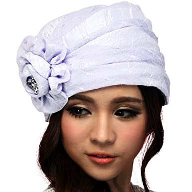 June s Young Women Summer Hats Bucket Hats for Church Brimless ... 56769a07fe4