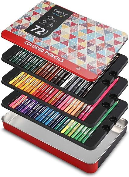 Magicfly 72 Lápices de Colores Profesional, Caja de Lápices de Dibujo Colores Brillantes para Colorear Mandala Bosquejo Pintura al Pastel, Adultos Niños Dibujantes: Amazon.es: Oficina y papelería