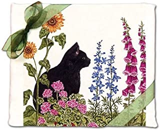 product image for Alice's Cottage Black Cat Flour Sack Kitchen Towels (set of 2)